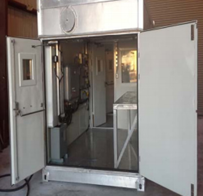 Double Aluminum door with viewing window